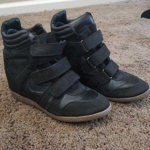 Womens Candie's Platform Wedge Sneakers 8.5
